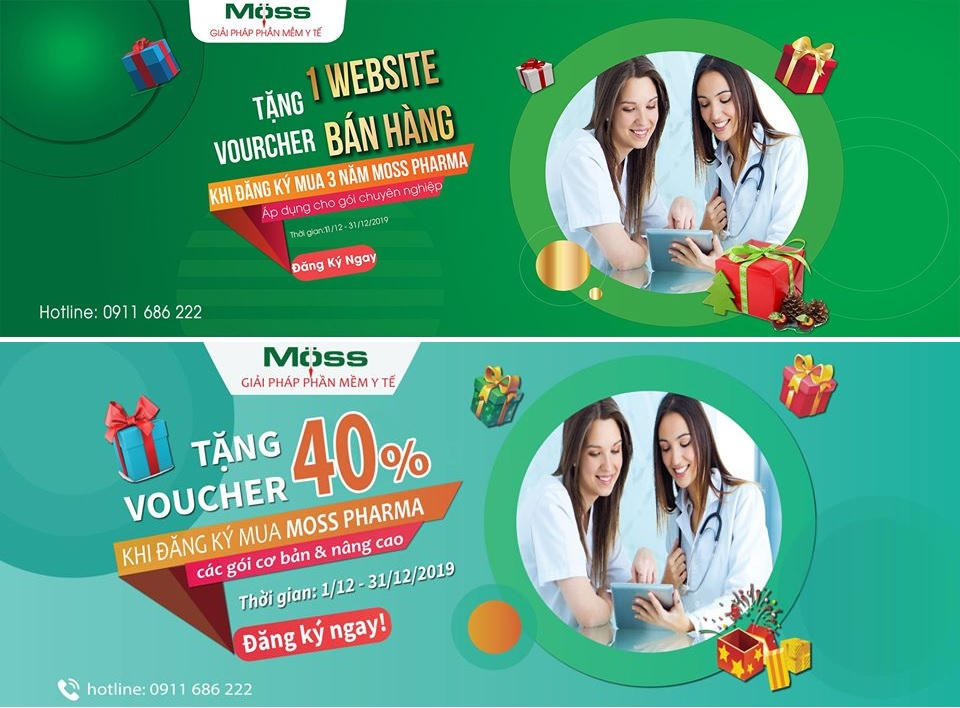 Các chương trình khuyến mãi của Moss Pharma trong tháng 12