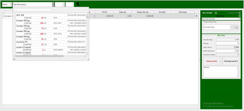 Moss Pharma bản cài Windows bán hàng ngay cả khi không có mạng