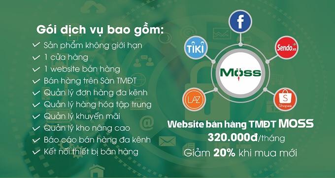 Trọn gói website và phần mềm bán hàng nhà thuốc Moss Pharma