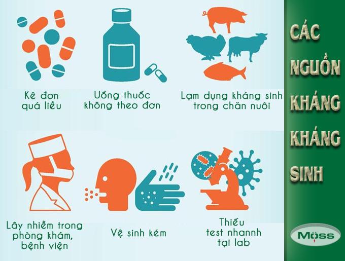 Nguyên nhân gây kháng kháng sinh nghiêm trọng hiện nay